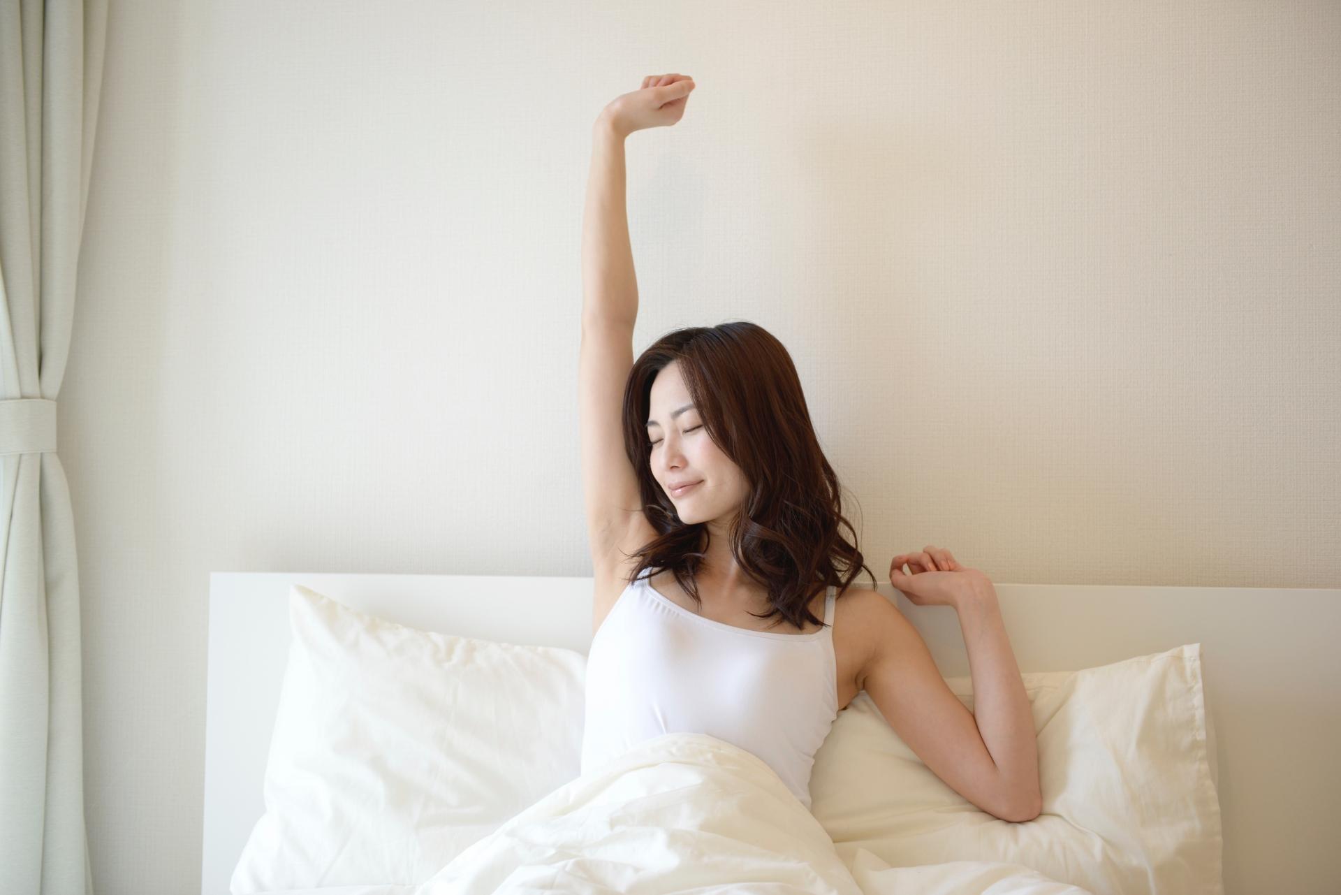 部屋が綺麗でよく寝ている人